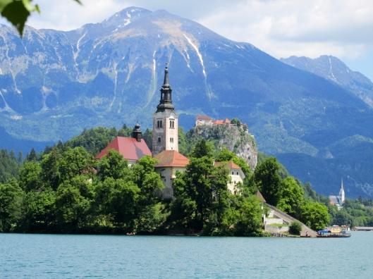 Lake Bled island in Bled, Slovenia