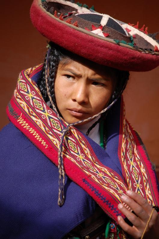 Peruvian woman, Chinchero, Peru