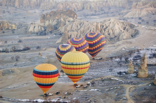 Balloons over Cappodocia, Turkey