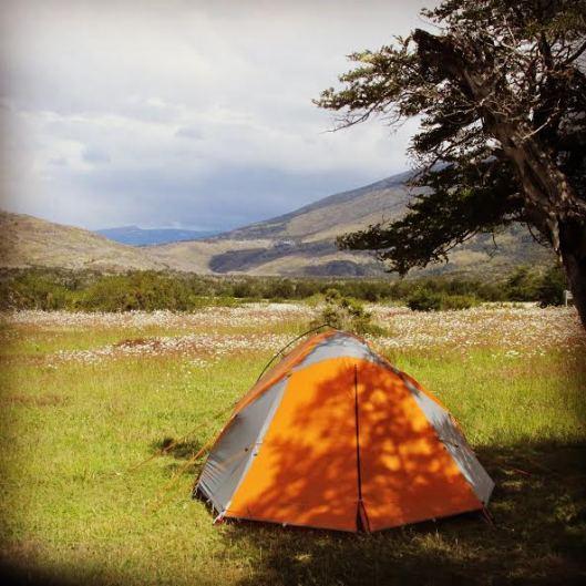 Camp Seron on Circuit Trek at Torres del Paine National Park, Patagonia, Chile