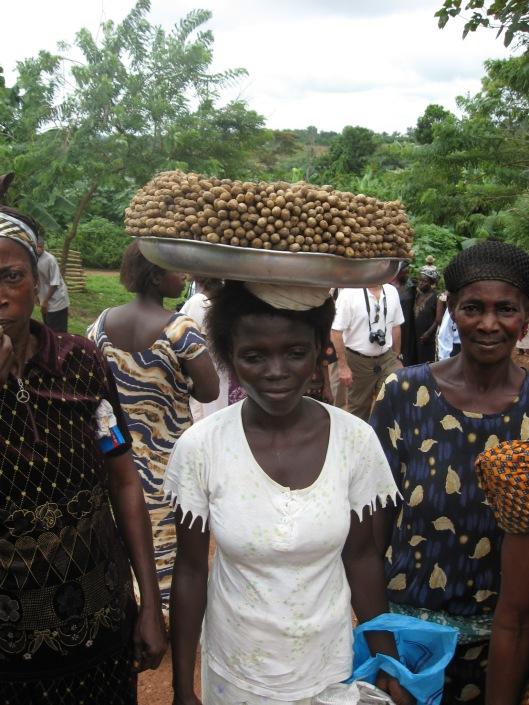 Woman with peanuts, near Kumasi, Ghana