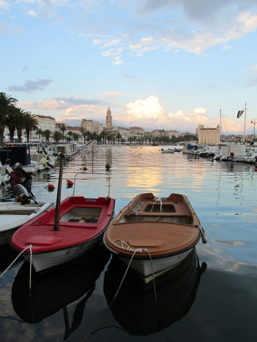 Split harbor at sunset, Split, Croatia