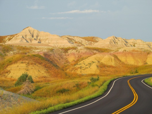 The Badlands - no color enhancing here; this is really what it looked like! South Dakota