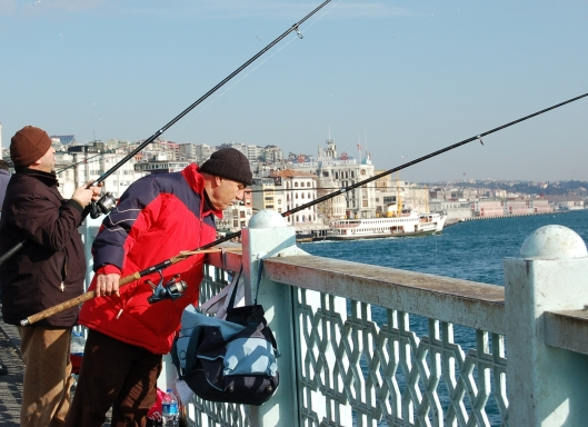 On the Galata Bridge, Istanbul