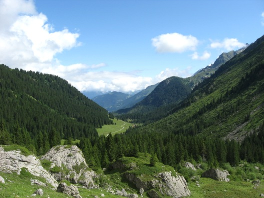 Another day, another view on the Tour du Mont Blanc