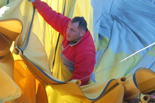 Our hot air balloon pilot, Cappadocia