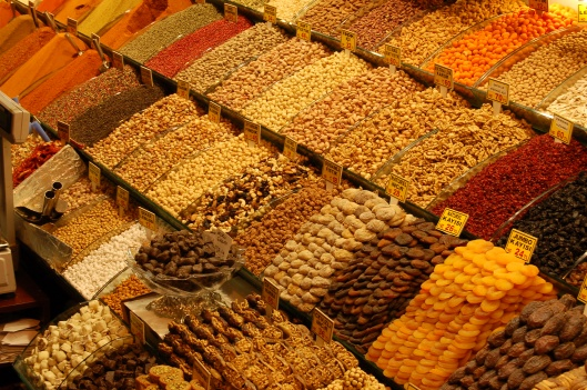 Nuts, fruits, and - yep - spices at the Spice Market, Istanbul