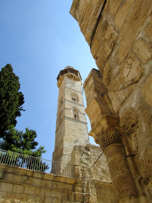 Church of the Holy Sepulchre side by side with a minaret